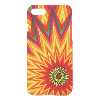 Fractal Sunflower Colourful Abstract Floral Art iPhone 8/7 Case