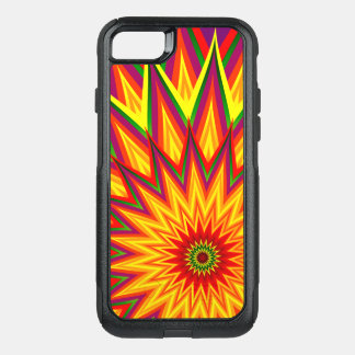 Fractal Sunflower Colourful Abstract Floral Art OtterBox Commuter iPhone 7 Case