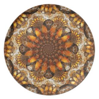 Fractal Sunflowers Melamine Plate