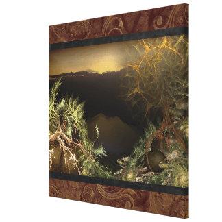 Fractal Sunrise Canvas Wall Art