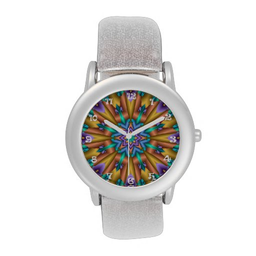 Fractal Sunshine, artistic abstract custom watch