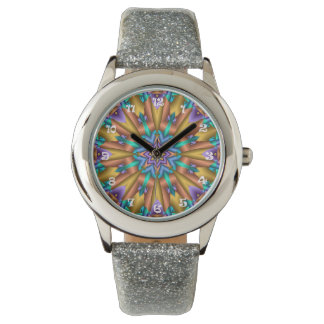 Fractal Sunshine, artistic abstract custom watch