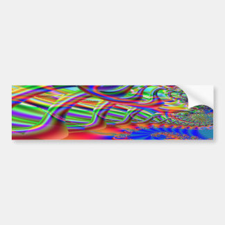 Fractal Super Highway Bumper Sticker