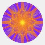 Fractal Supernova Sticker