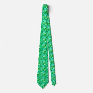 Fractal swirl pattern, jade, turquoise, aqua tie