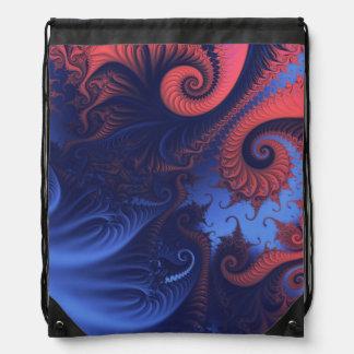 Fractal swirls rucksack