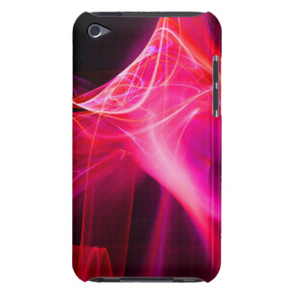 FRACTAL SWIRLS IN PURPLE PINK RED BARELY THERE iPod CASE