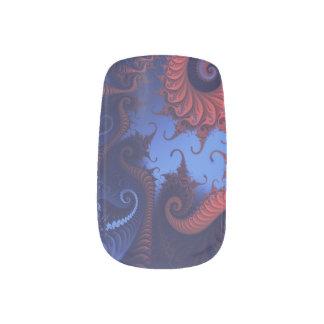 Fractal swirls nail stickers