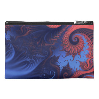 Fractal swirls travel accessories bags