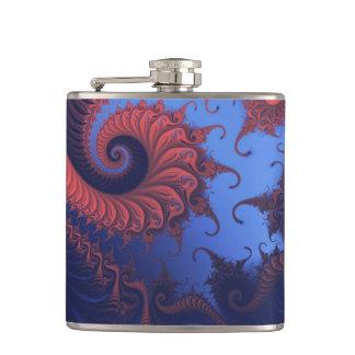 Fractal swirls hip flasks