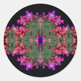 Fractal Symmetry Round Sticker