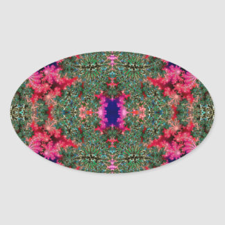 Fractal Symmetry Oval Stickers