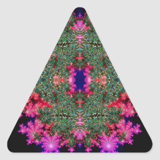 Fractal Symmetry Triangle Stickers