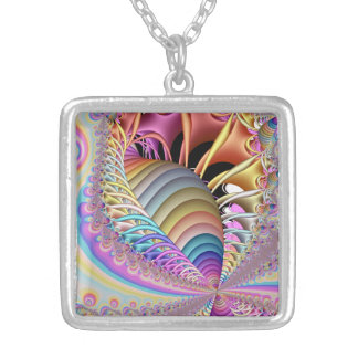 Fractal The Shell Silver Plated Necklace