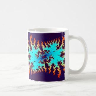 fractal tie-dye: animal print coffee mugs