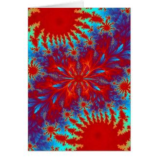 fractal tie-dye cards