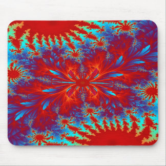 fractal tie-dye mouse pad