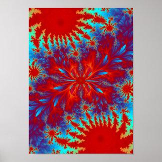 fractal tie-dye poster