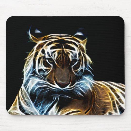 Fractal tiger mouse mat