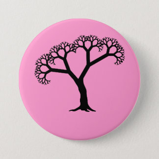 Fractal Tree Black 7.5 Cm Round Badge
