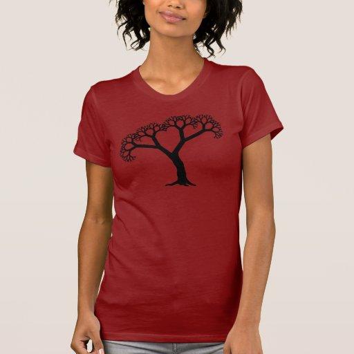Fractal Tree Black Tshirt