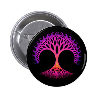 Fractal Tree of Life Inspiration 6 Cm Round Badge