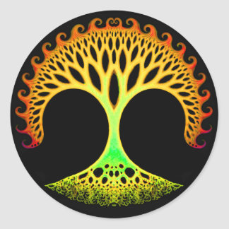Fractal Tree of Life Inspiration Stickers