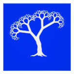 Fractal Tree White Posters