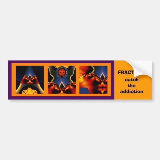 Fractal triptych bumper sticker