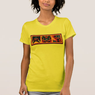 Fractal triptych tee shirts