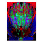 fractal tulip postcard