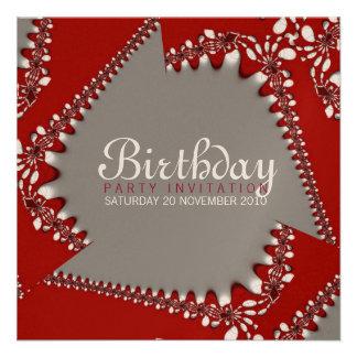 Fractal Twista Birthday Invitation