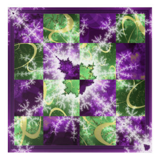 Fractal two colour Checkerboard with detail Acrylic Print