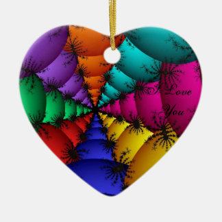 Fractal Vein Ceramic Heart Decoration
