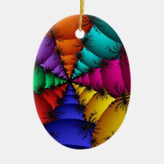 Fractal Vein Christmas Ornament