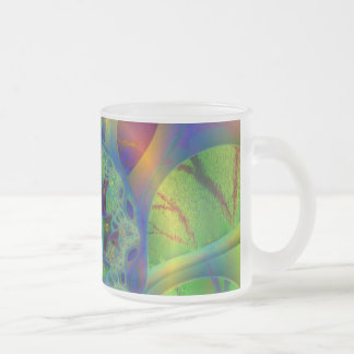 Fractal Watermelon #3 Frosted Glass Mug