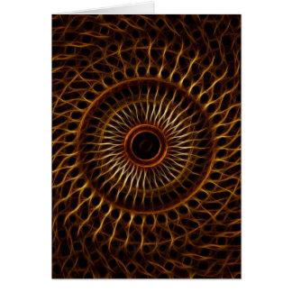 Fractal wavy pattern greeting cards