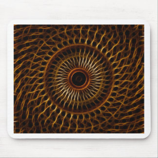 Fractal wavy pattern mouse pad