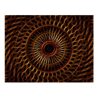 Fractal wavy pattern postcard