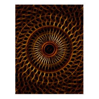 Fractal wavy pattern post card