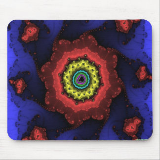 fractal wheel mouse mat