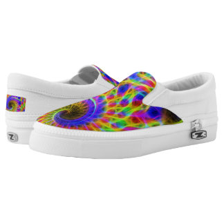 Fractal Zipz Slip On Shoes, US Men 4 / US Women 6