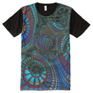 "Fractaling ""wave"" All-Over print T-Shirt"