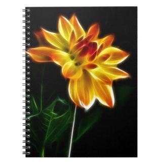 Fractalius Dahlia Notebook
