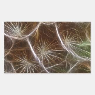 Fractalius Dandelion Close up Rectangular Sticker