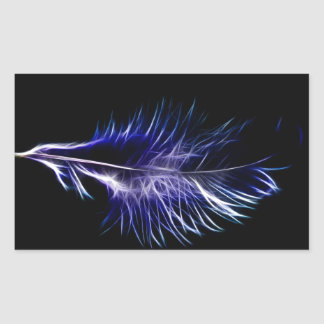 Fractalius Feather Rectangle Sticker