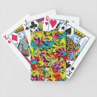 Fractalius leaf design bicycle playing cards