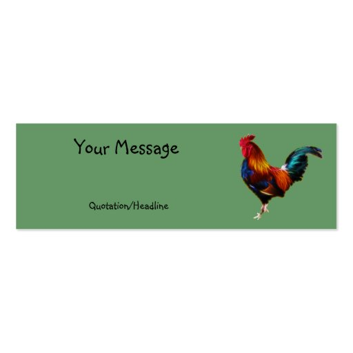 Fractalius Leghorn Rooster Business Card