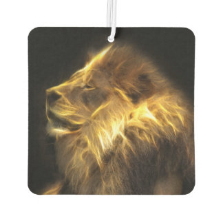 Fractalius lion car air freshener