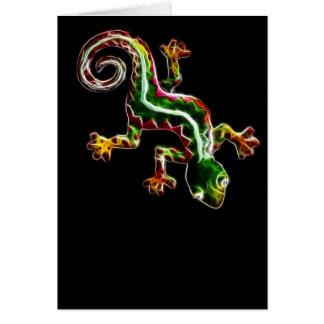 Fractalius Lizard Card